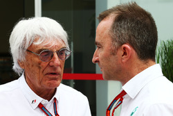 (L to R): Bernie Ecclestone, with Paddy Lowe, Mercedes AMG F1 Executive Director (Technical)