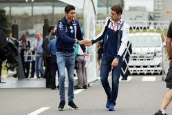 Esteban Ocon, Sahara Force India F1 and Paul di Resta