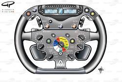Renault R29 2009 Alonso steering wheel