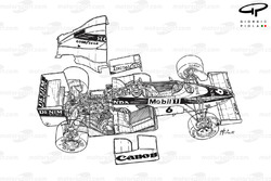 Williams FW10 1985 exploded detail overview