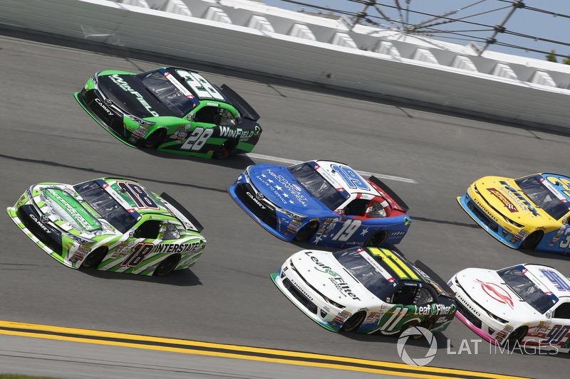 Daniel Suárez, Joe Gibbs Racing Toyota Blake Koch, Kaulig Racing Chevrolet Matt Tifft, Joe Gibbs Racing Toyota