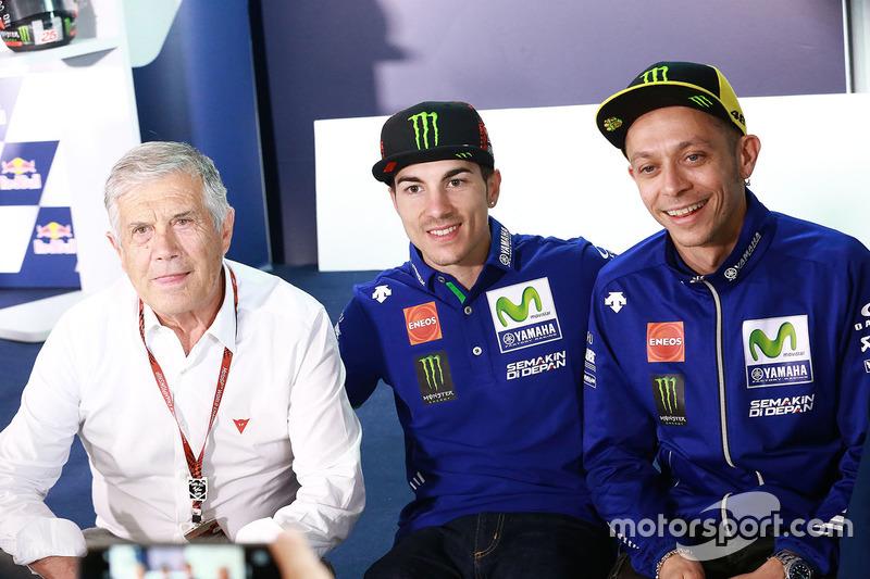 Giacomo Agostini, Maverick Viñales, Yamaha Factory Racing, Valentino Rossi, Yamaha Factory Racing