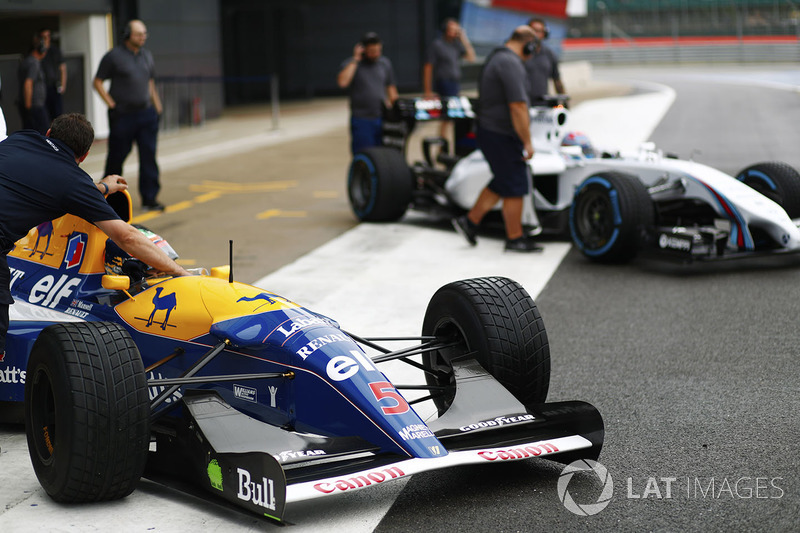 Karun Chandhok, Williams FW14B Renault, Paul di Resta