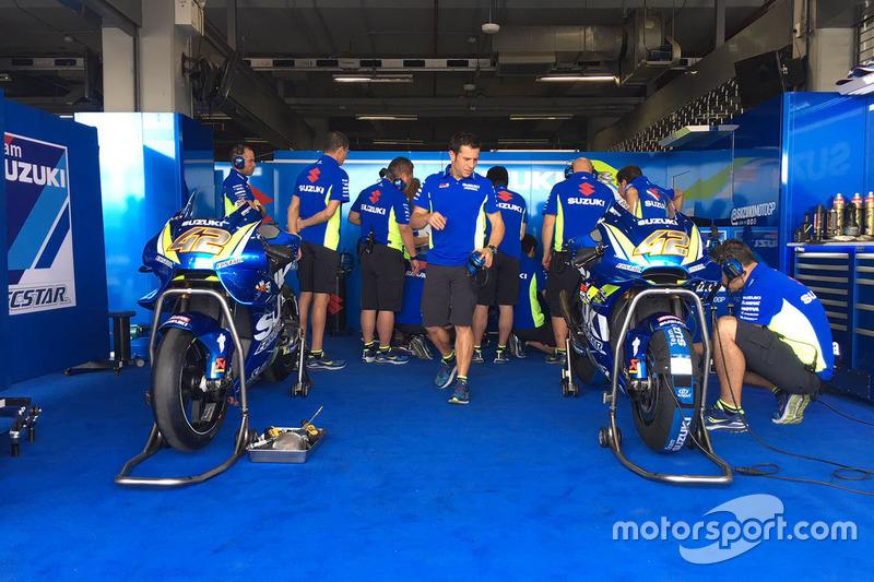 Le moto di Alex Rins, Team Suzuki MotoGP
