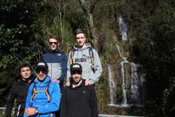 Bruno Spengler, Augusto Farfus, Marco Wittmann, Philipp Eng y Joel Eriksson, Senderismo