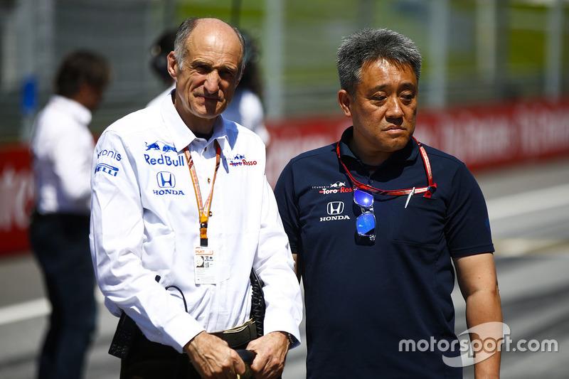 Franz Tost, directeur de Toro Rosso, et Masashi Yamamoto, manager de Honda Motorsport