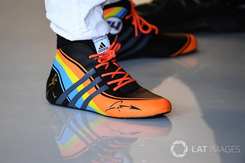 Botas de Fernando Alonso, McLaren