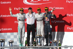 Podium:  Race winner Lewis Hamilton, Mercedes AMG F1, second place Nico Rosberg, Mercedes AMG F1, third place Daniel Ricciardo, Red Bull Racing, Rob Thomas, Mercedes AMG F1 Operations and Quality Director MHPE