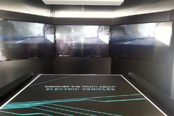 Dettaglio dello stand Panasonic Jaguar Racing nell'eVillage