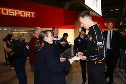 Matt Neal signs an autograph