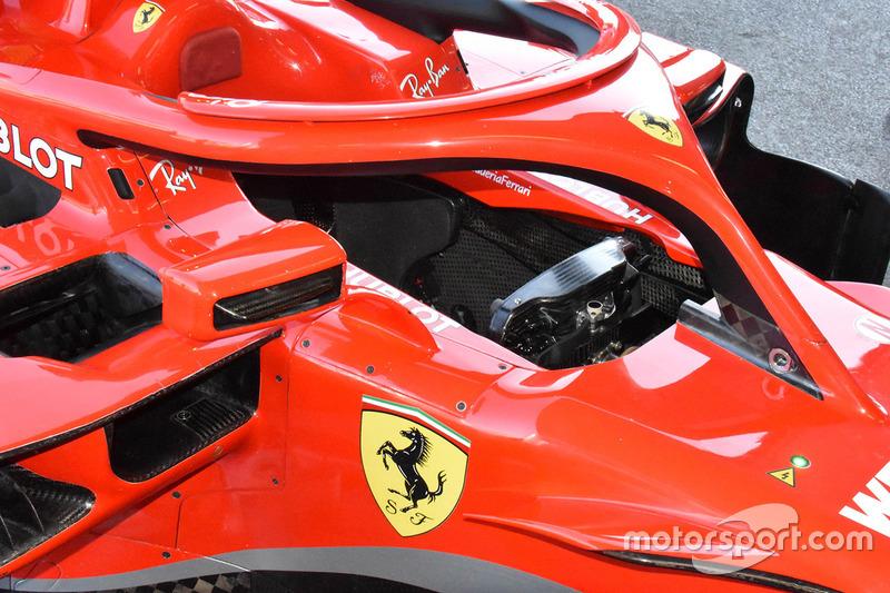 Ferrari SF71H cockpit detail