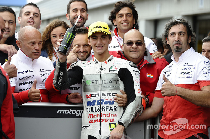 Second place Francesco Bagnaia, Aspar Team Mahindra
