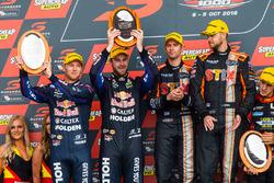 Podium: winners Will Davison, Jonathon Webb, Tekno Autosports Holden, second place Shane van Gisberge, Alexander Premat, Triple Eight Race Engineering Holden