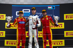 Podium: Race winner Sergey Sirotkin (RUS, ART Grand Prix; second place , ART Grand Prix), Jordan King, Racing Engineering; third place Norman Nato, Racing Engineering