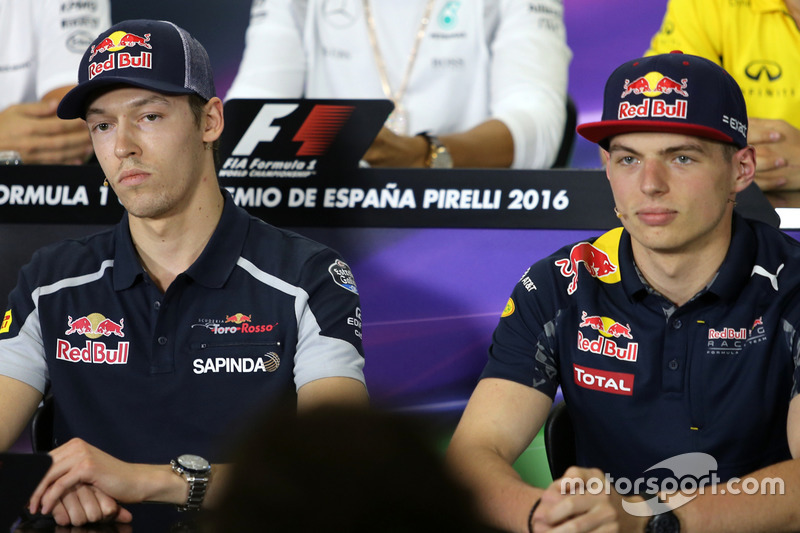 Daniil Kvyat, Scuderia Toro Rosso e Max Verstappen, Red Bull Racing