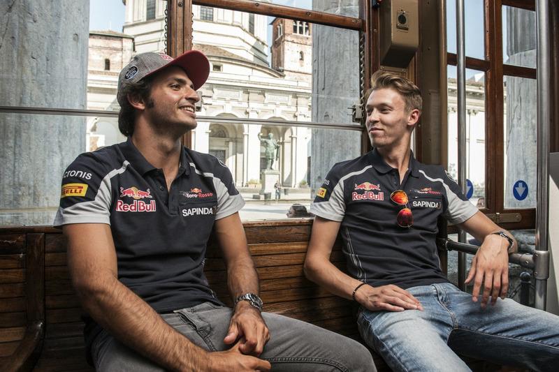 Carlos Sainz Jr. und Daniil Kvjat in Mailand