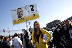 Grid girl of Gary Paffett, Mercedes-AMG Team ART, Mercedes-AMG C63 DTM.