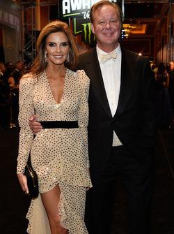 Brian France, NASCAR-Chef, mit Ehefrau Amy