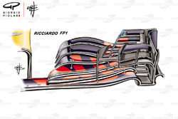 Red Bull Racing RB14 alerón delantero Daniel Ricciardo PL1