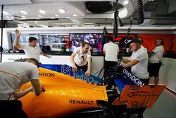 La voiture de Fernando Alonso, McLaren MCL33
