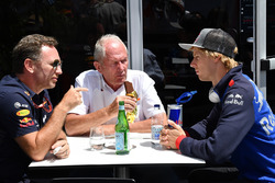 ccho, Dr Helmut Marko, Red Bull Motorsport Consultant and Brendon Hartley, Scuderia Toro Rosso