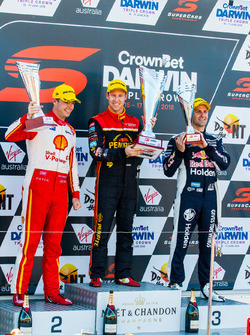 Podium: Scott McLaughlin, DJR Team Penske Ford David Reynolds, Erebus Motorsport Holden Jamie Whincup, Triple Eight Race Engineering Holden