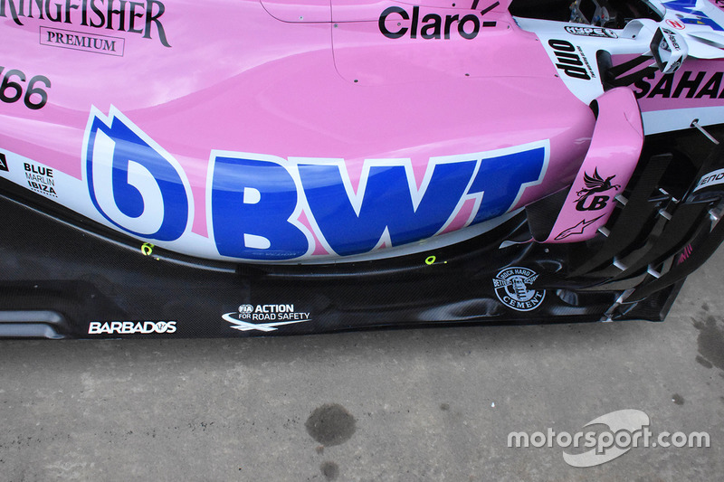 Force India VJM11 sensörleri
