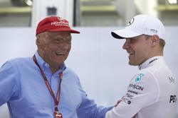 Niki Lauda, Fahri Direktör, Mercedes AMG ve Valtteri Bottas, Mercedes AMG F1