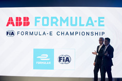 Alejandro Agag, Founder & CEO of Formula E and Ulrich Spiesshofer, CEO of ABB announce the first-eve