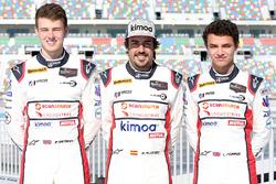 Phil Hanson, Fernando Alonso, Lando Norris, United Autosports