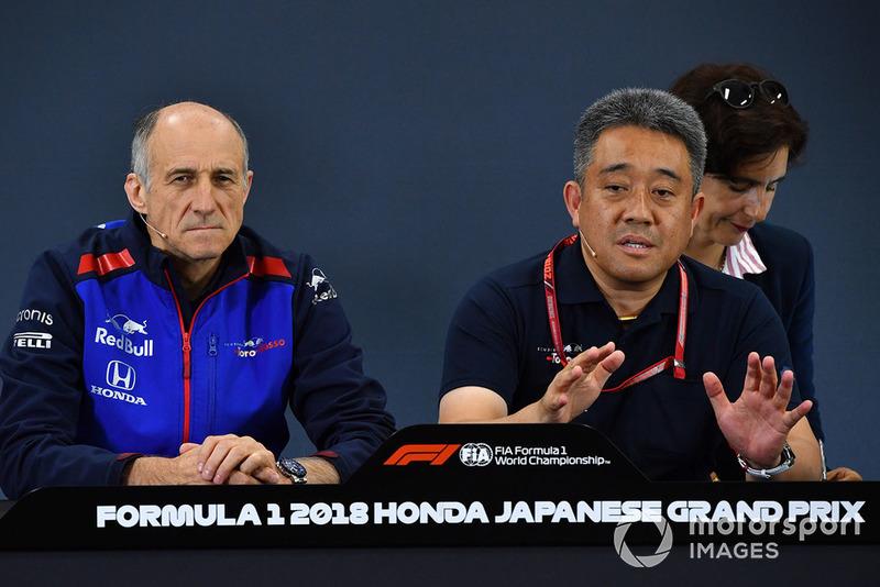 Franz Tost, director de la Scuderia Toro Rosso y Toyoharu Tanabe, Honda F1 director técnico de Honda