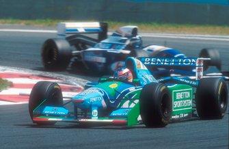 Michael Schumacher, Benetton B194 con Damon Hill, Williams FW16