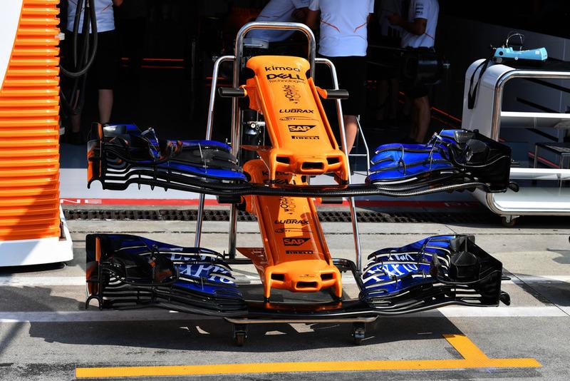 Morro y alerones delanteros del McLaren MCL33