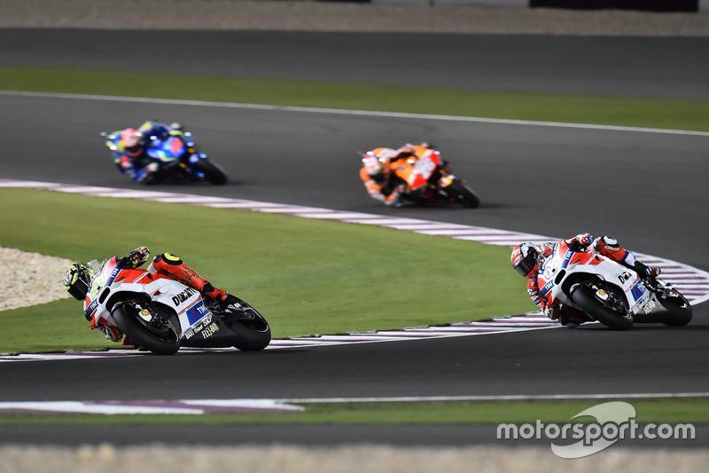 Andrea Iannone, Ducati Team, Ducati y Andrea Dovizioso, Ducati Team, Ducati