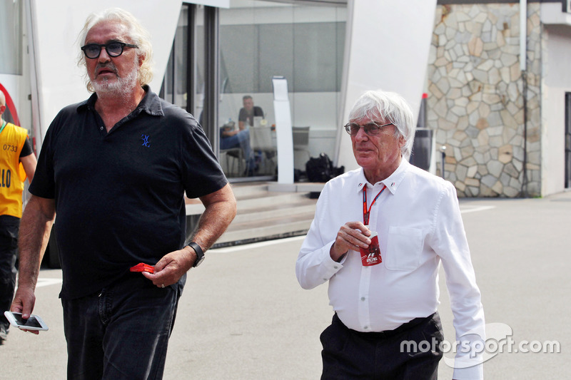 Flavio Briatore, ve Bernie Ecclestone,