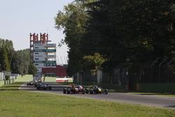 Callum Ilott, Van Amersfoort Racing Dallara F312, Mercedes-Benz; Ralf Aron, Prema Powerteam Dallara