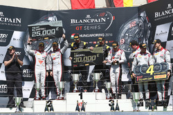 Podium: winners Dominik Baumann, Maximilian Bühk, Team HTP Motorsport, second place Frederic Vervisch, Laurens Vanthoor, Belgian Audi Club Team WRT, third place Enzo Ide, Christopher Mies, Belgian Audi Club Team WRT