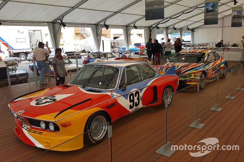 La prima e la più recente BMW Art Car: 1975 BMW 3.0 CSL by Alexander Calder, 2010 BMW M3 GT2 by Jeff