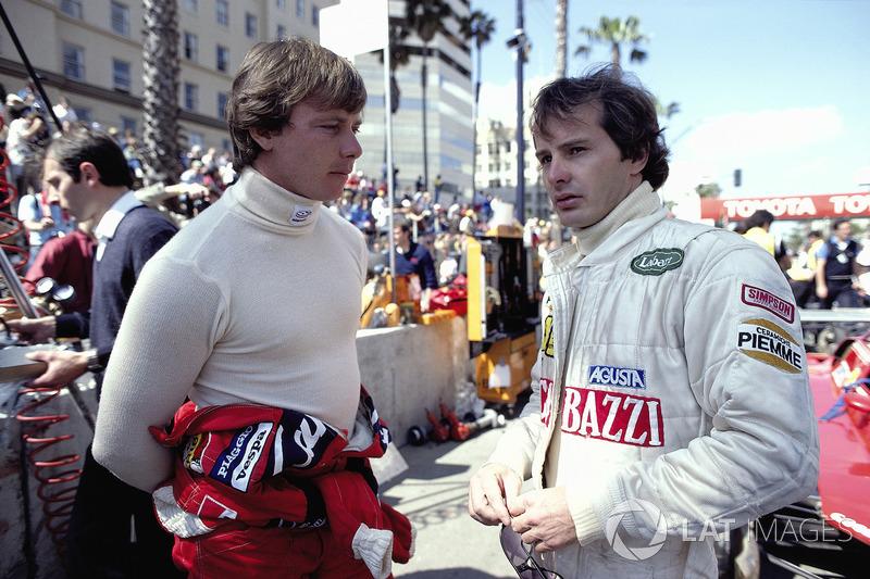 Didier Pironi és Gilles Villeneuve , csapattársak a Ferrarinál