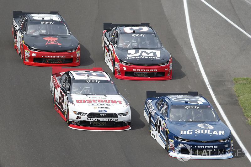 Brennan Poole, Chip Ganassi Racing Chevrolet Joey Logano, Team Penske Ford