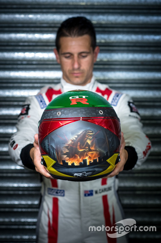 Helm von #23 Nissan Motorsport, Nissan GT-R Nismo GT3: Michael Caruso