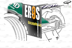 Minardi PS04B rear wing endplate slot