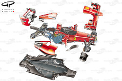Ferrari F60 (660) 2009 exploded view