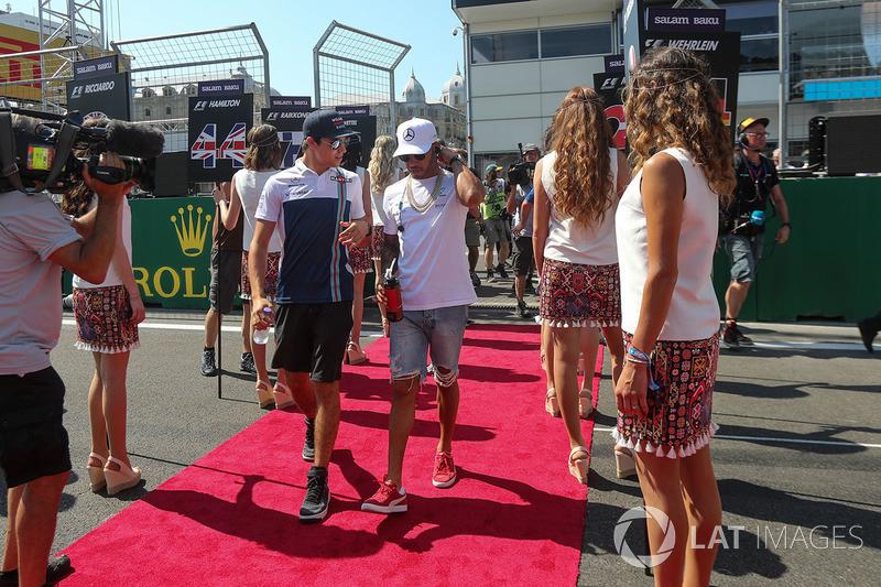 Lance Stroll, Williams, Lewis Hamilton, Mercedes AMG F1