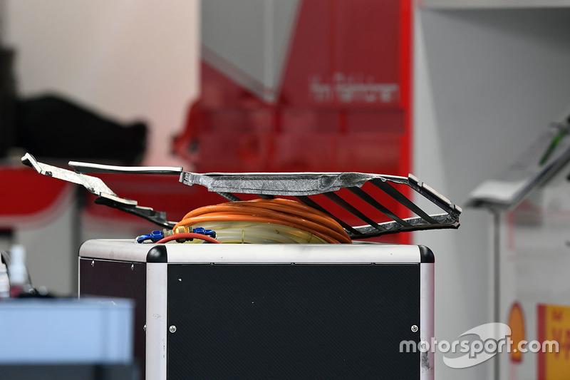 Ferrari SF70H: Seitenkasten, Detail