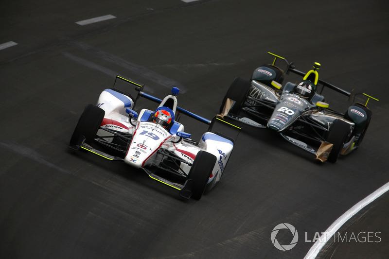 Эд Джонс, Dale Coyne Racing Honda, и Эд Карпентер, Ed Carpenter Racing Chevrolet