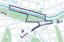 Схема трассы в Сантьяго