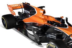 The McLaren MCL32 detalle ala trasera