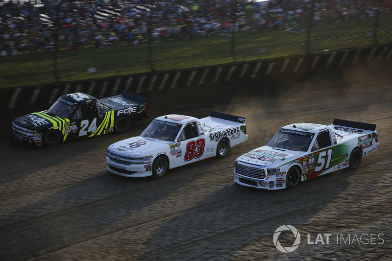 Justin Haley, GMS Racing Chevrolet, JJ Yeley, Chevrolet, Harrison Burton, Kyle Busch Motorsports Toy