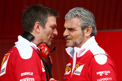 James Allison, Ferrari Chassis Technical Director met Maurizio Arrivabene, Ferrari Team Principal